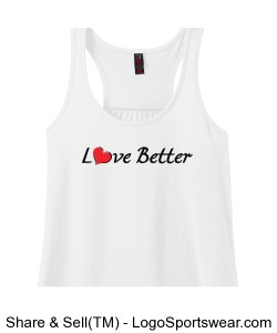 Ladies Solid Gathered Racerback Tank Design Zoom